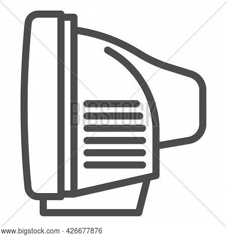 Tv Side View Line Icon, Monitors And Tv Concept, Cathode Ray Tube Side View Vector Sign On White Bac