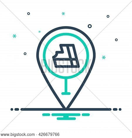 Mix Icon For Place Gps Position Mark Location Navigation