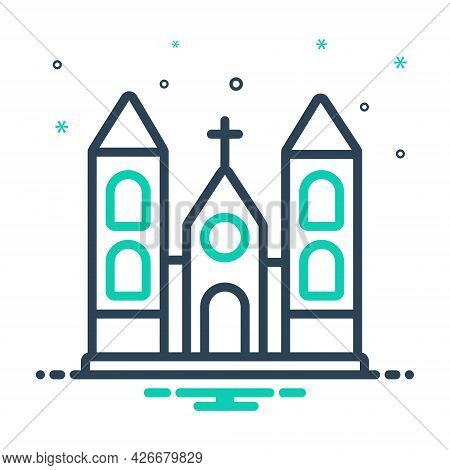 Mix Icon For Church Holy Place Stead Collocation Religion Worship Sacred