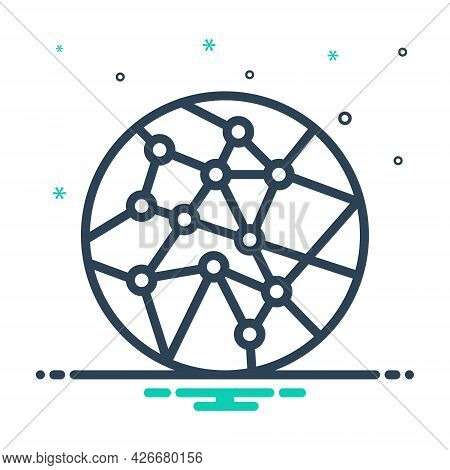 Mix Icon For Network-connection Network Workflow Trading Community Global Infographics