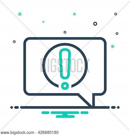 Mix Icon For Alert-message Notification Reportage Message Information Conversation Alert