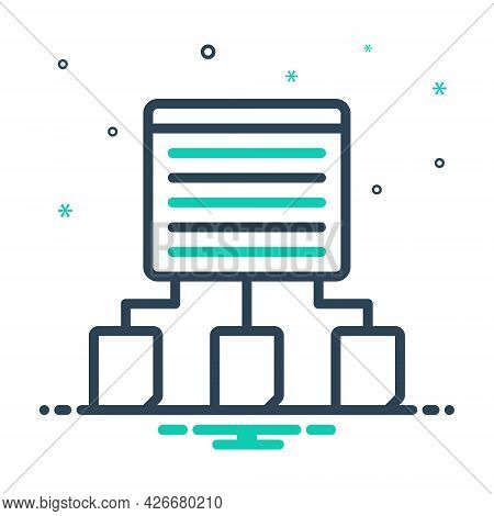 Mix Icon For Content-sharing Share Context Distribute Data Transfer Fill