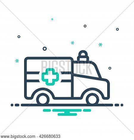 Mix Icon For Ambulance Emergencies Exigency Necessity Rescue Transportation Paramedic Medical Transp