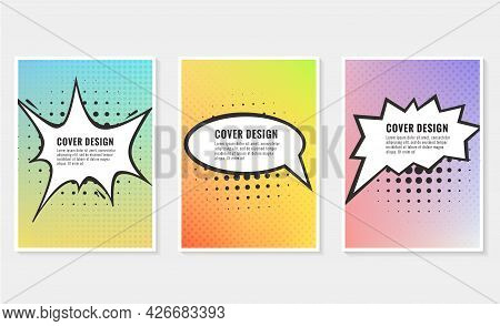 Pow, Colorful Speech Bubble And Explosions In Pop Art Style. Elements Of Design Comic Books. Vector