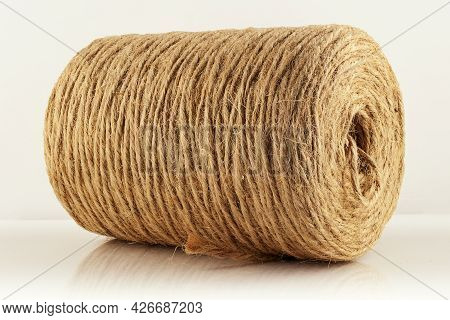 A Skein Of Twine On A Light Background