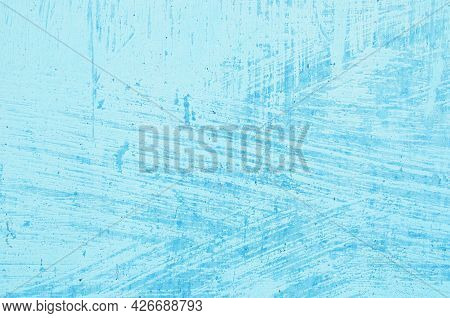 The Metal Background Is Painted In A Pale Blue Color With Brush Marks