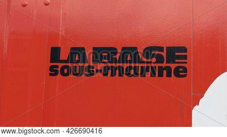 Bordeaux , Aquitaine France - 07 07 2021 : La Base Sous Marine In Bordeaux City France Text Sign Of