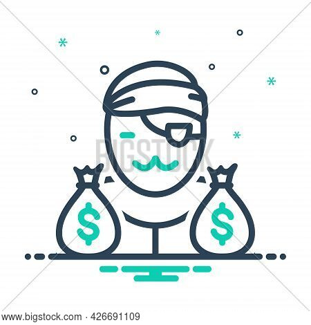 Mix Icon For Notorious Gangster Loot Cash Wage Thief Robber
