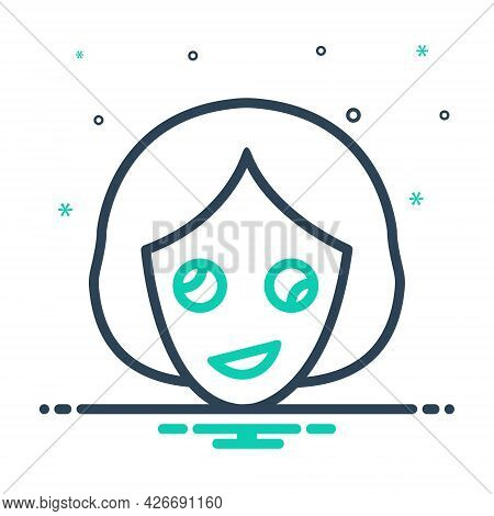 Mix Icon For Oddity Abnormality Contrast Dissimilarity Irregularity Woman