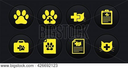 Set Pet First Aid Kit, Clinical Record Pet, Medical Certificate For Dog Cat, , Veterinary Clinic And