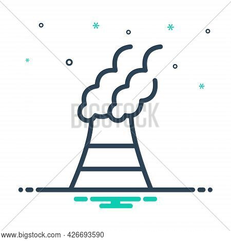 Mix Icon For Pollutants Pollutant Polluted Toxic Environmental Harmful Chemicals Factory Polluted-ai