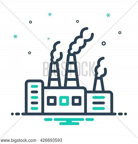 Mix Icon For Pollutant Polluted Toxic Environmental Carcinogen Chemicals Factory Polluted-air Smoke