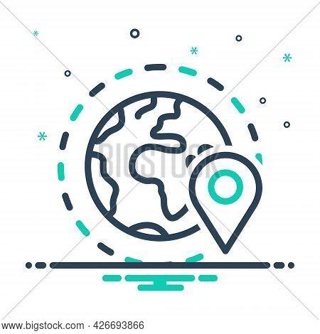 Mix Icon For Periphery Geo-zone Geo Gps  Location  Navigation Pointer Locally App Localization Geotr