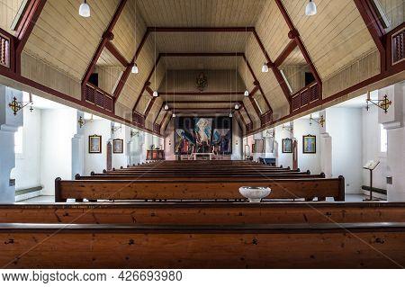 Munich, Germany - Apr 04, 2021: Interior Of Former Garrison Church Of St Barbara In Munich, Germany.