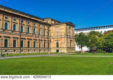 Munich, Germany - Jul 27, 2020: View Of The Historic Palace And Museum Alte Pinakothek In Munich In