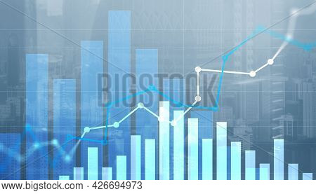 Stock Market Forex Trading Graph And Candlestick Chart