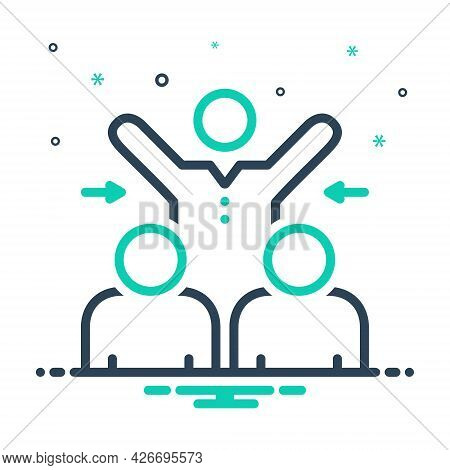 Mix Icon For Participated Collaboration Partnership Participation Team Together Cooperation