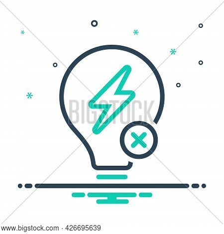 Mix Icon For Outage Electricity Power Flash Charge Energy Voltage Thunder Discharge Zigzag Thunderbo