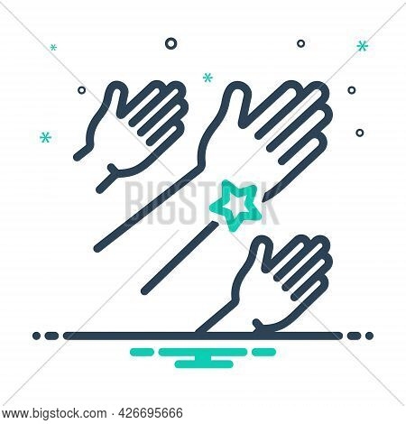 Mix Icon For Outreach Community Helping-hand Advocacy Charity Donate Teamwork Unity Volunteerism Vol