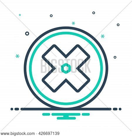 Mix Icon For Failure Fiasco Hoodoo Multiplied Cross Delete Mathematical Sign Mark Geometric