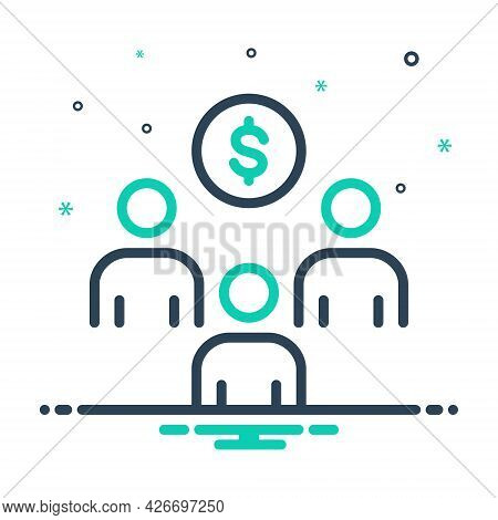 Mix Icon For Sponsor-investment Sponsorship Strategic Income Advertisement Advertising Contribution