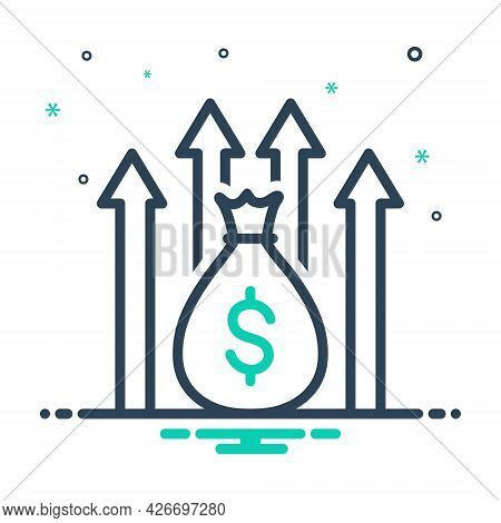 Mix Icon For Funds-raising Increase Profit Fund Income Money Budget Investment Development Financial