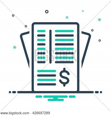 Mix Icon For Invoice-paper Paperwork Invoice Contract Legal Responsive Corporate Note Document Recei