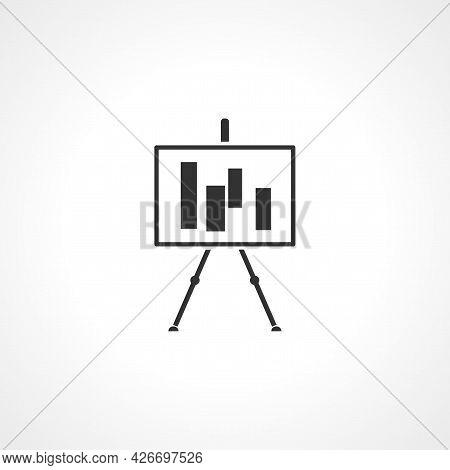 Presentation Billboard Icon. Presentation Billboard Isolated Simple Vector Icon