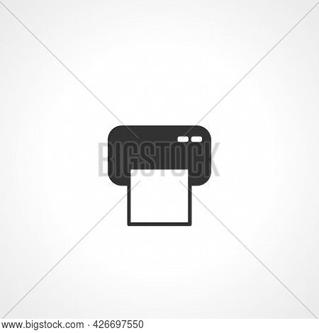 Printer Icon. Printer Isolated Simple Vector Icon