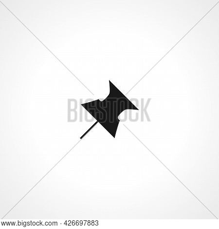 Push Pin Icon. Push Pin Isolated Simple Vector Icon