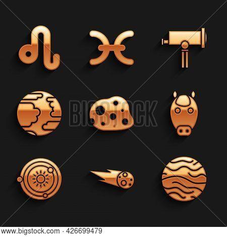 Set Asteroid, Comet Falling Down Fast, Planet Venus, Horse Zodiac, Solar System, Mercury, Telescope