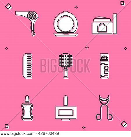 Set Hair Dryer, Makeup Powder With Mirror, Cream Cosmetic Tube, Hairbrush, Shaving Gel Foam, Nail Po