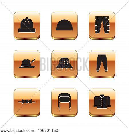 Set Winter Hat, Bow Tie, With Ear Flaps, Elegant Women, Oktoberfest, Cargo Pants, T-shirt And Beanie