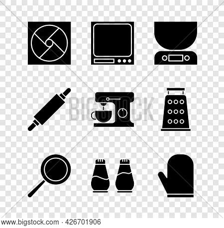 Set Ventilation, Electronic Scales, Frying Pan, Salt And Pepper, Oven Glove, Rolling Pin And Electri