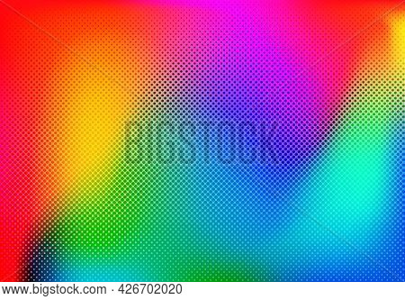 Abstract Blend Background Colorful Halftone Gradient Vector