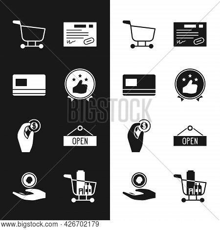 Set Consumer Or Customer Product Rating, Credit Card, Shopping Cart, Warranty Certificate Template,