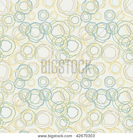 Vintage Color Curved Circles Pattern - Seamless Background