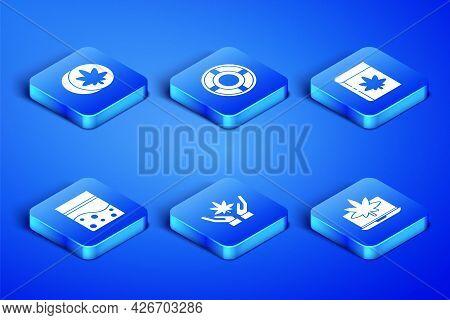 Set Laptop And Marijuana Or Cannabis, Herbal Ecstasy Tablets, Marijuana Leaf, Plastic Bag Of, Ashtra