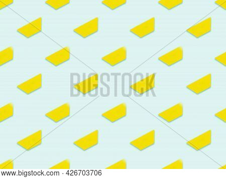 Simple Geometric Yellow Trapezoid Pattern. Colorful Geometric Background. Seamless Abstract Pattern