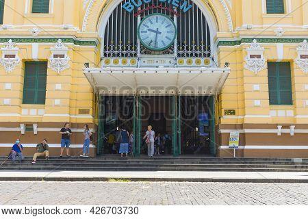 Ho Chi Minh City, Vietnam - Oct 17, 2019 : Ho Chi Minh City Post Office, Or The Saigon Central Post