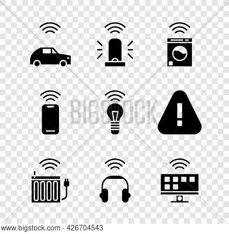 Set Smart Car System With Wireless, Flasher Siren, Washer, Heating Radiator, Headphones, Tv, Wireles