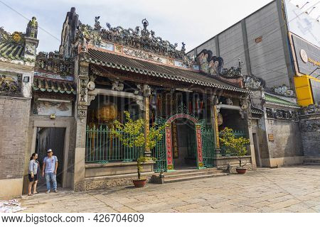 Ho Chi Minh, Vietnam - Oct 17, 2019 : Chua Ba Thien Hau Temple In Ho Chi Minh City, Vietnam On Oct 1