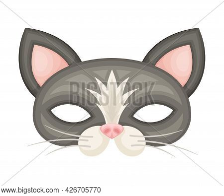 Cat Mask As Party Birthday Photo Booth Prop Vector Illustration