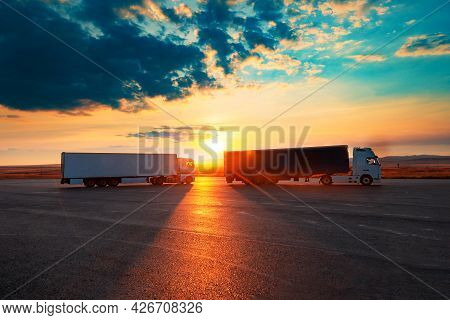 Logistic Industry And Delivering Conceptual Image.truck,lorry And Transport Concept.