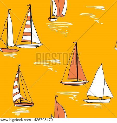 Crouise Yacht Marine Trip, Sea Summer Print Outdoor Travel