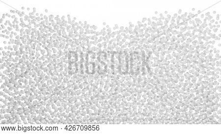 3D illustration of countless white particles