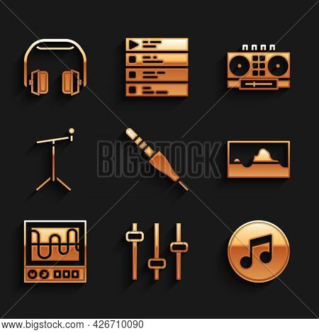 Set Audio Jack, Music Equalizer, Note, Tone, Wave, Oscilloscope, Microphone With Stand, Dj Remote Mi