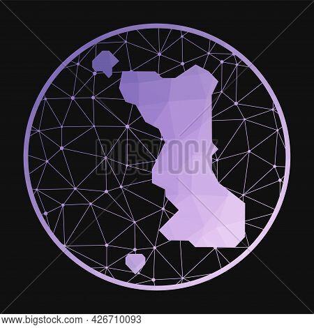 Malapascua Island Icon. Vector Polygonal Map Of The Island. Malapascua Island Icon In Geometric Styl