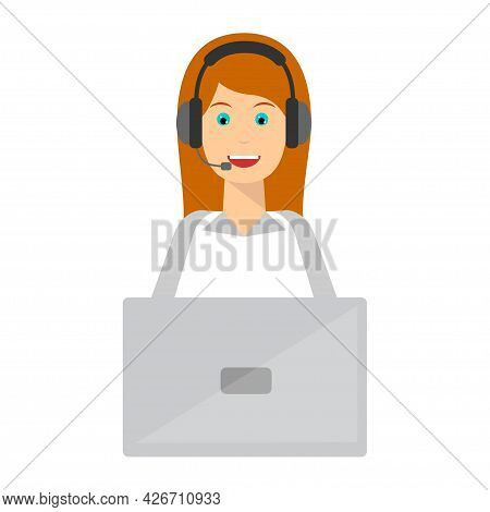 Young Man And Woman Wearing Headsets Dd