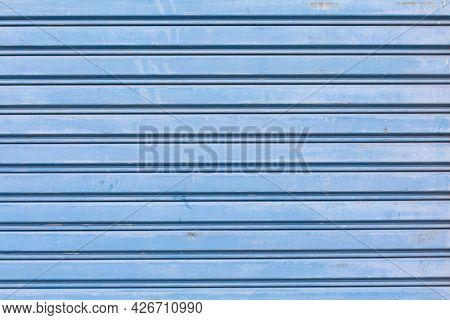 Close Up Of Pattern Of Shutter Door Texture Background